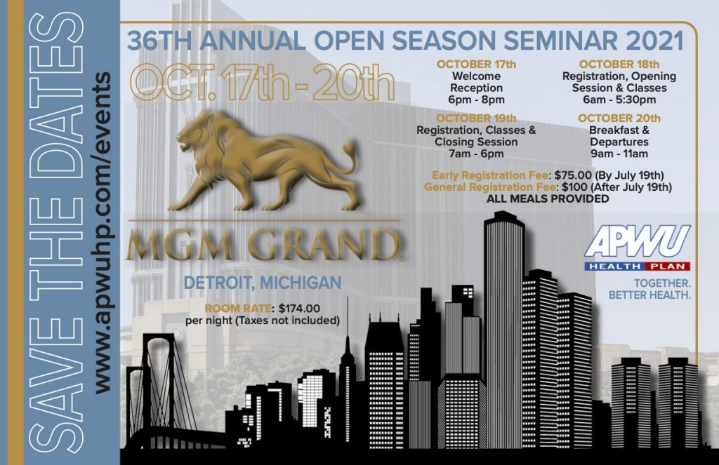 APWU Health Plan 36th Annual Open Season Seminar