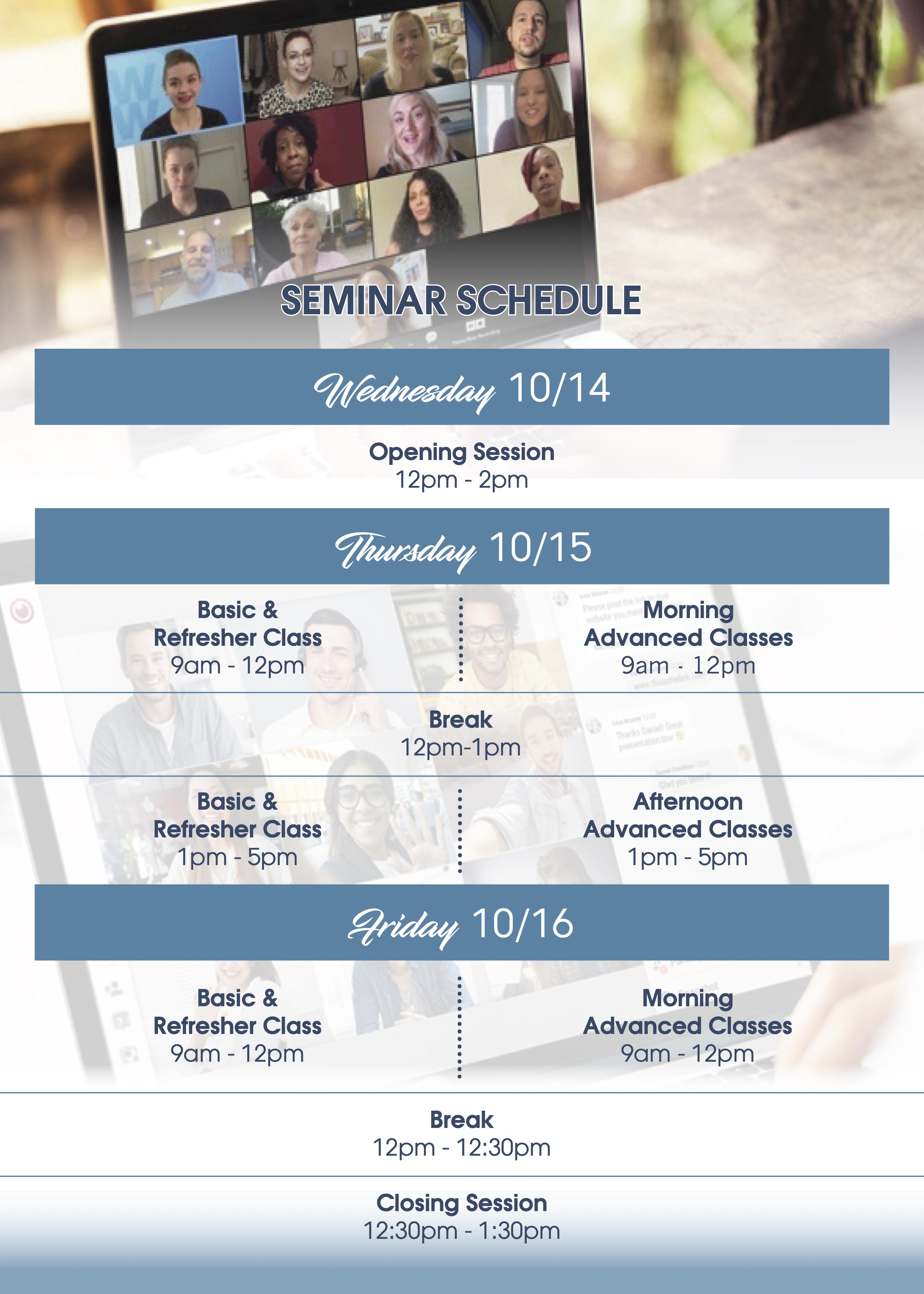 open season seminar schedule